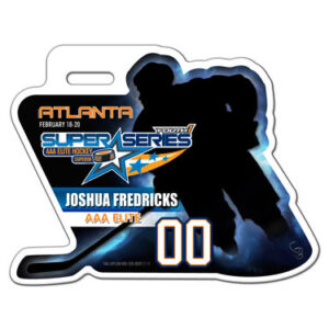 Ice Hockey Player skating Profile Bag Tag