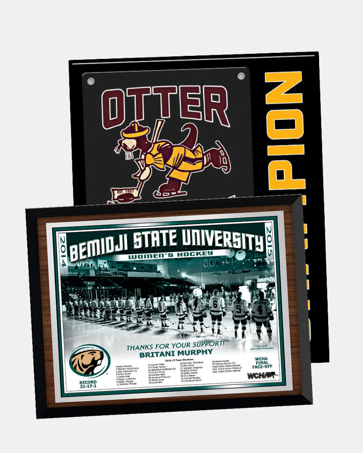 customizable individualized teams sports plaques