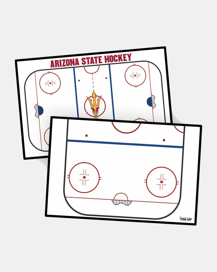 customizable sideline courtside rink side hockey dry erase board handheld whiteboard