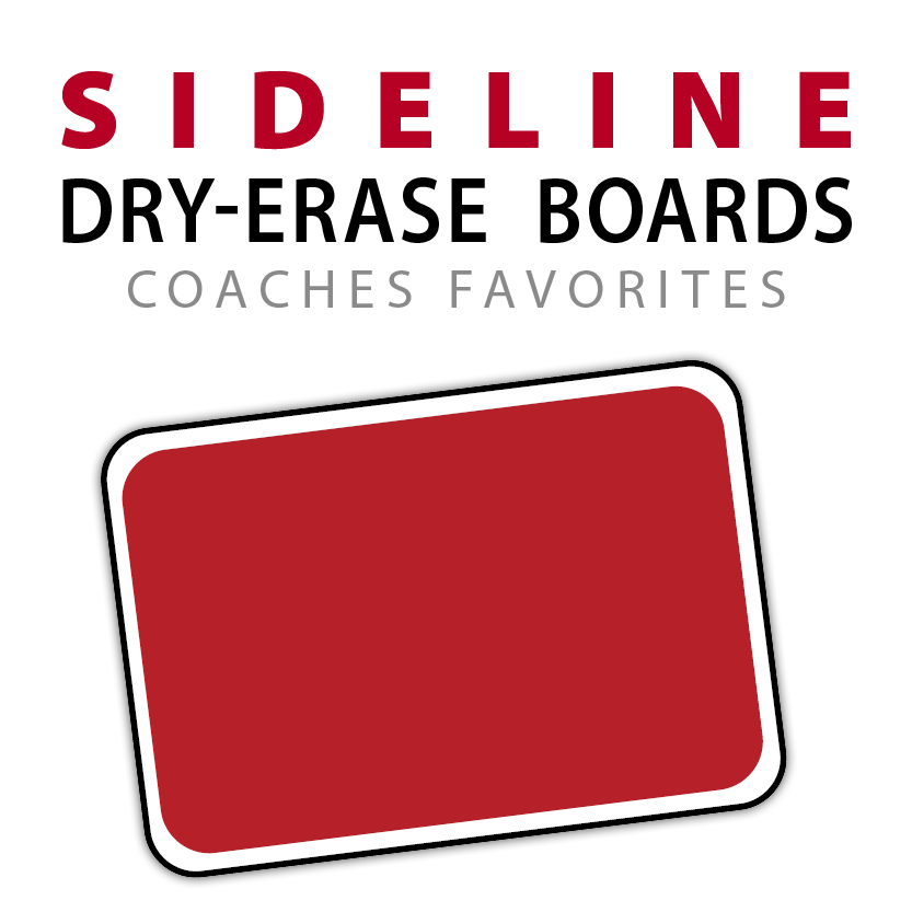 sideline courtside rink side hand held dry erase board whiteboard