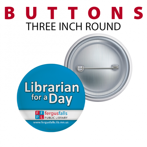 three inch round buttoms customizable