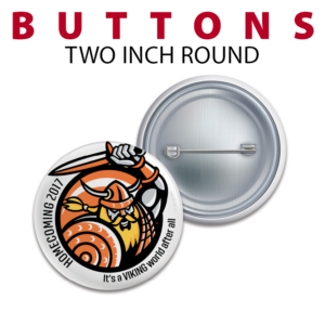 two inch round buttoms customizable