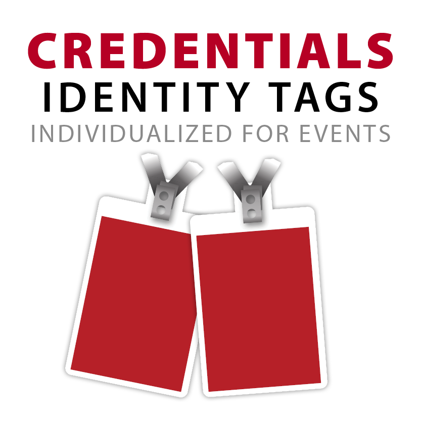 Credentials and identity tags badges