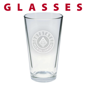 glass pint custom engraving