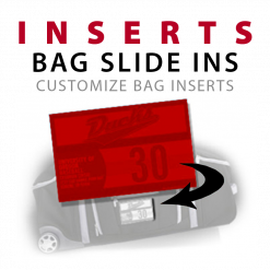 bag luggage window inserts and slide ins