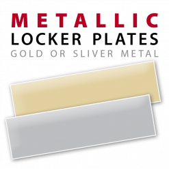 custom metal metallic locker plates nameplates