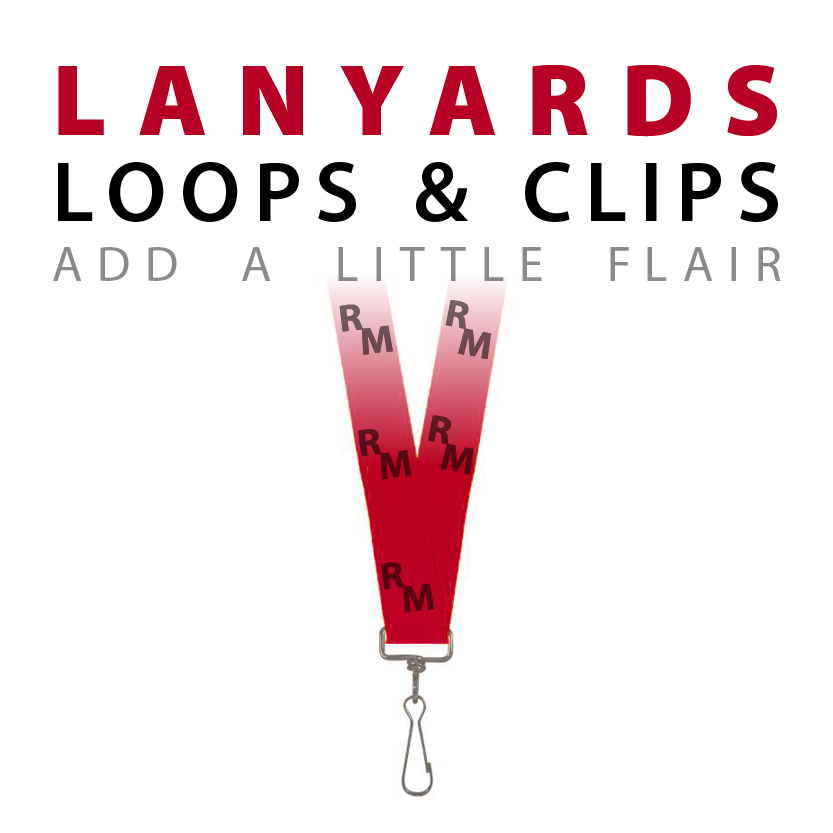 brings you to custom lanyards, loops and clips page