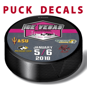 customization ice hockey puck decals