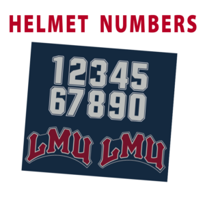 sport athletics helmet number sticker decals