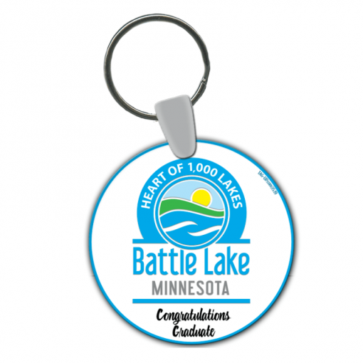 round circle keychain customizable logo events teams sport