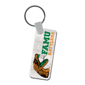 rectangle keychain customizable logo events teams sport