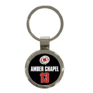 metal keychain customizable logo events teams sport