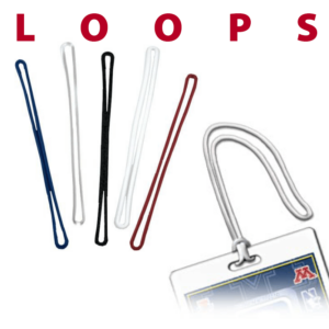 bag tag accessories loops colors blue clear black white red