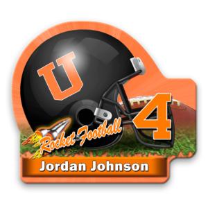 helment football customizable magnetics logos image photographs cuts size