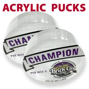 acrylic pucks mementos