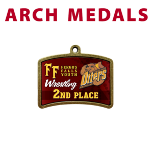 arch medals customizable personization individualization place team sport logo branding color