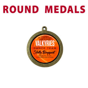 round medals customizable personize individualize logos names place team sport