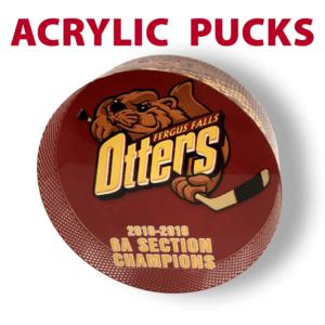 customizable acrylic pucks awards mementos