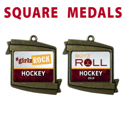 square bronze customizable personized individualized medals