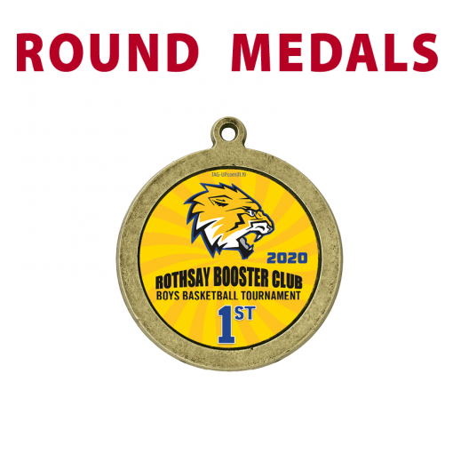 round medals customizable logo colors branding individualize personalization