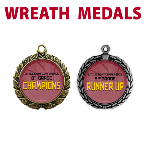 custom wreath medals