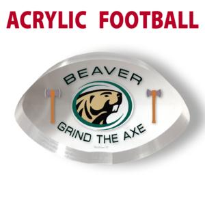 acrylic football custom mementos