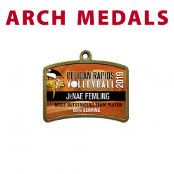 arch medals individualization personization customization name place team sport logo branding