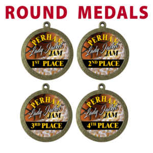 round medals placement