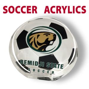 soccer acrylics mementos award individualize personization customization logo image sport place