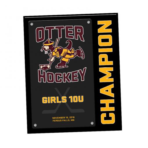 customizable sport plaque individual name number personization logo branding sport