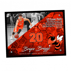 customizable sport plaque individual name number personization logo branding sport