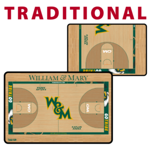 basketball full half court traditional standard customization personization Sideline Dry-Erase Board double sided team logo colors branding