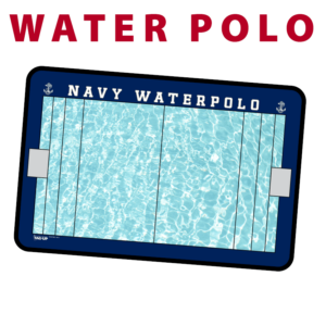 water polo traditional standard sideline court side dry-erase whiteboards boards hand held