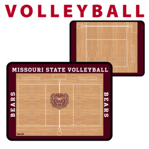 volleyball half full traditional standard sideline court side dry-erase whiteboards boards hand held
