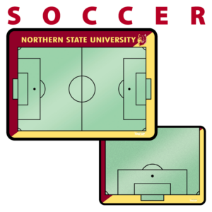 soccer field customization personization Sideline Dry-Erase Board double sided team logo colors branding
