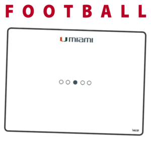 football customization personization Sideline Dry-Erase Board double sided team logo colors branding
