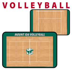 volleyball full half court traditional standard sideline court side dry-erase whiteboards boards hand held