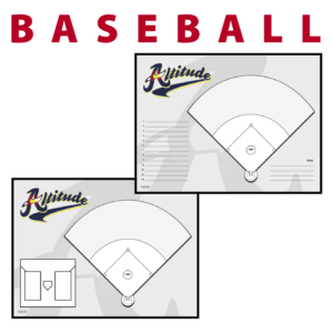 Baseball field line up Sideline Dry-Erase Board double sided