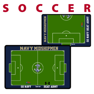 soccer field half full standard traditional customization personization Sideline Dry-Erase Board double sided team logo colors branding