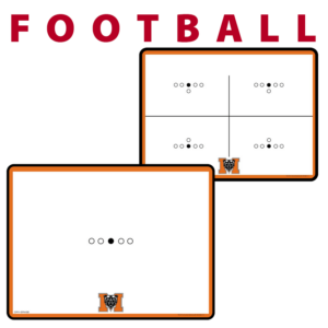 football standard traditional customization personization Sideline Dry-Erase Board double sided team logo colors branding