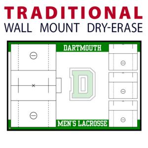 lacrosse standard traditional wall mount dry-erase board whiteboard customizable personizable individualizable branding logo team sport size information