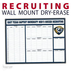 recruiting soccer notes area wall mount dry-erase board whiteboard customizable personizable individualizable branding logo team size