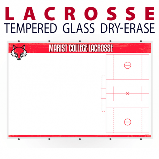 lacrosse field writing note area tempered glass wall mount dry-erase board whiteboard customizable personizable individualizable branding logo team size information