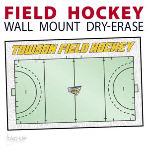 field hockey field wall mount dry-erase board whiteboard customizable personizable individualizable branding logo team size information