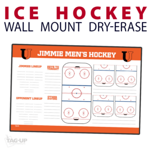 ice hockey rink full half note area wall mount dry-erase board whiteboard customizable personizable individualizable branding logo team size