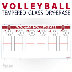 volleyball court rotation circle tempered glass wall mount dry-erase board whiteboard customizable personizable individualizable branding logo team size