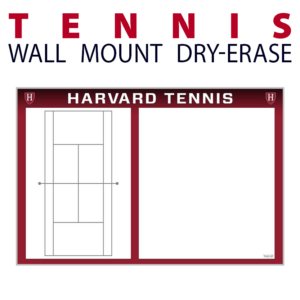 tennis court writing note area wall mount dry-erase board whiteboard customizable personizable individualizable branding logo team size