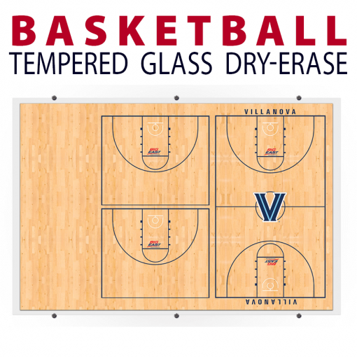 basketball full half court writing note area wood floor background wall mount dry-erase board whiteboard customizable personizable individualizable branding logo team size