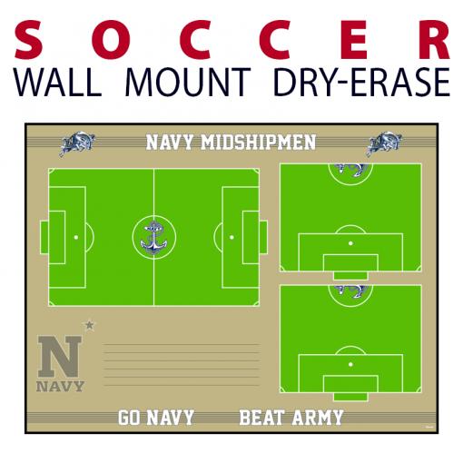 soccer field full half writing note area wall mount dry-erase board whiteboard customizable personizable individualizable branding logo team sport size information