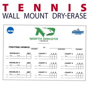 tennis schedule wall mount dry-erase board whiteboard customizable personizable individualizable branding logo team sport size